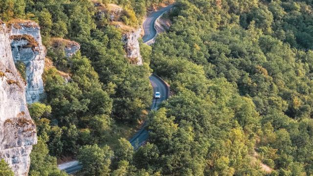 Route d'accès à Rocamadour