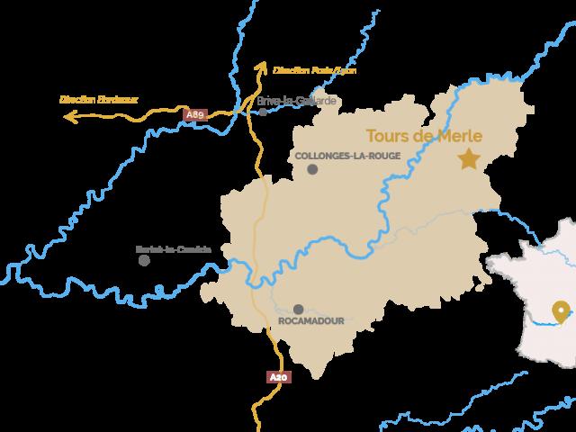 Carte les Tours De Merle