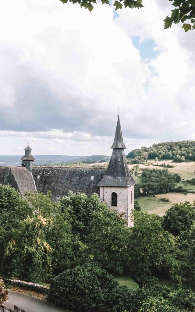 Turenne paysage et église