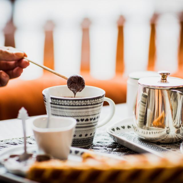 chocolat chaud et gaufres au Chalet de Flore