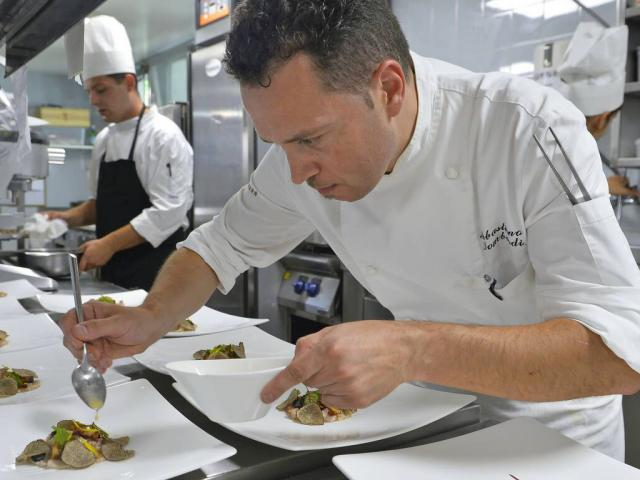 Michelin-starred chef Sebastiano Lombardi from La Table d'Adrien