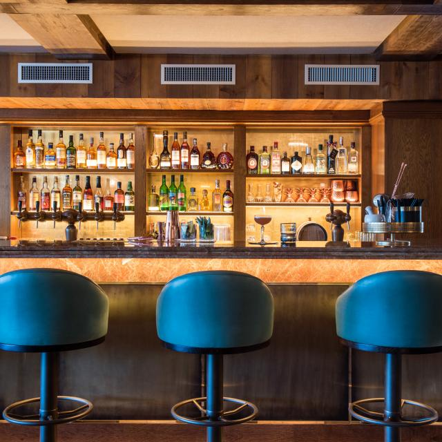 Bar du restaurant Vie Montagne à Verbier