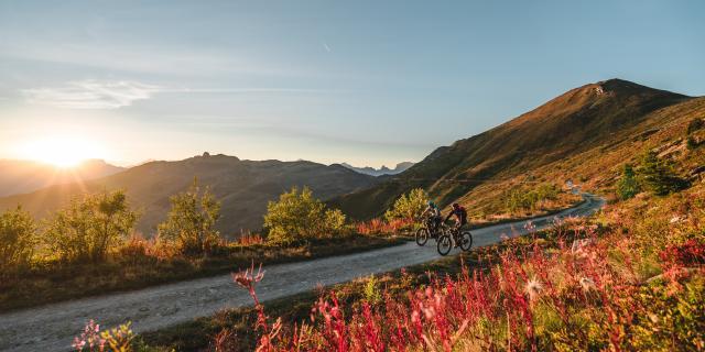 E-bike sur les hauts de Verbier en automne