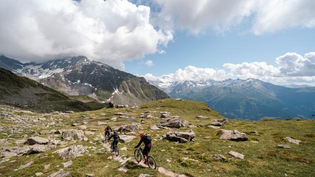 Randonnée en VTT & e-bike dans la région de Verbier