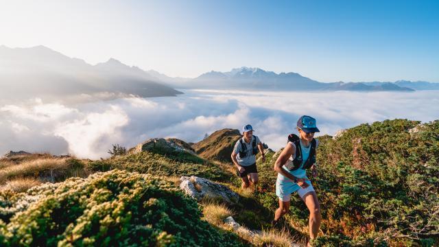Trail running dans la région de Verbier