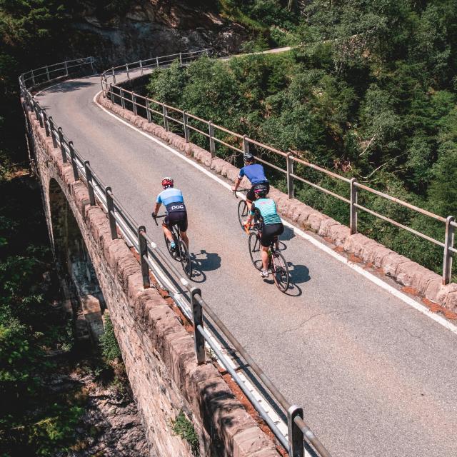 Vélo de route dans la région de Verbier