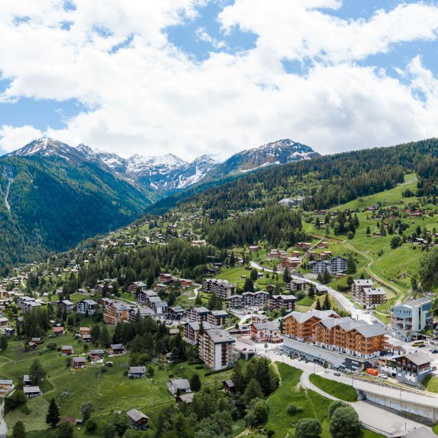 Vue aérienne de La Tzoumaz