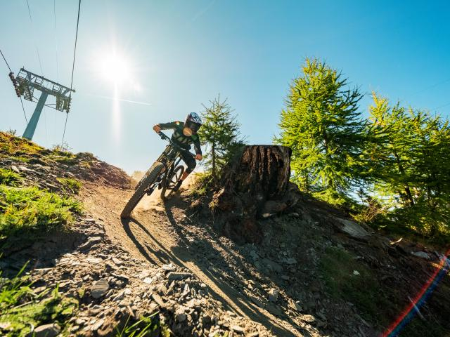 Downhill-Bike im Verbier Bike-Park