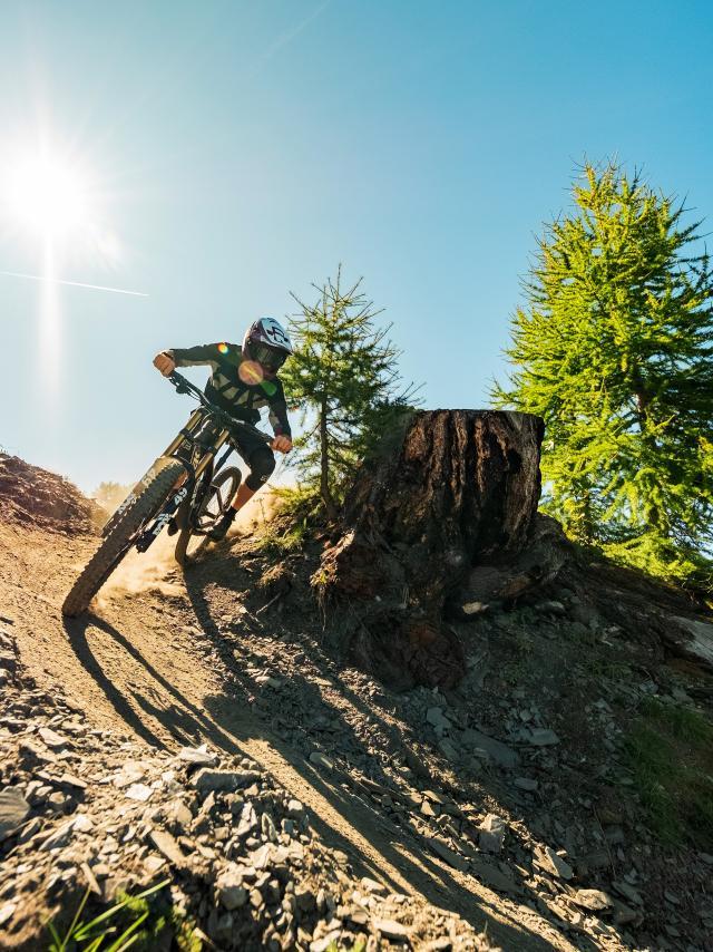 Downhill-Bike im Verbier Bike-Park