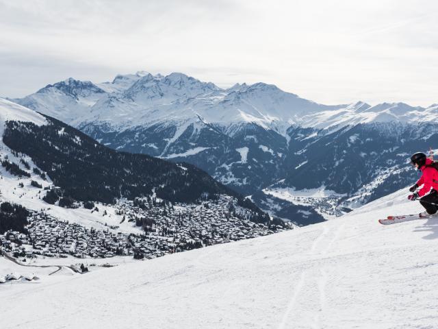 Ski de piste à La Tzoumaz , Savoleyres