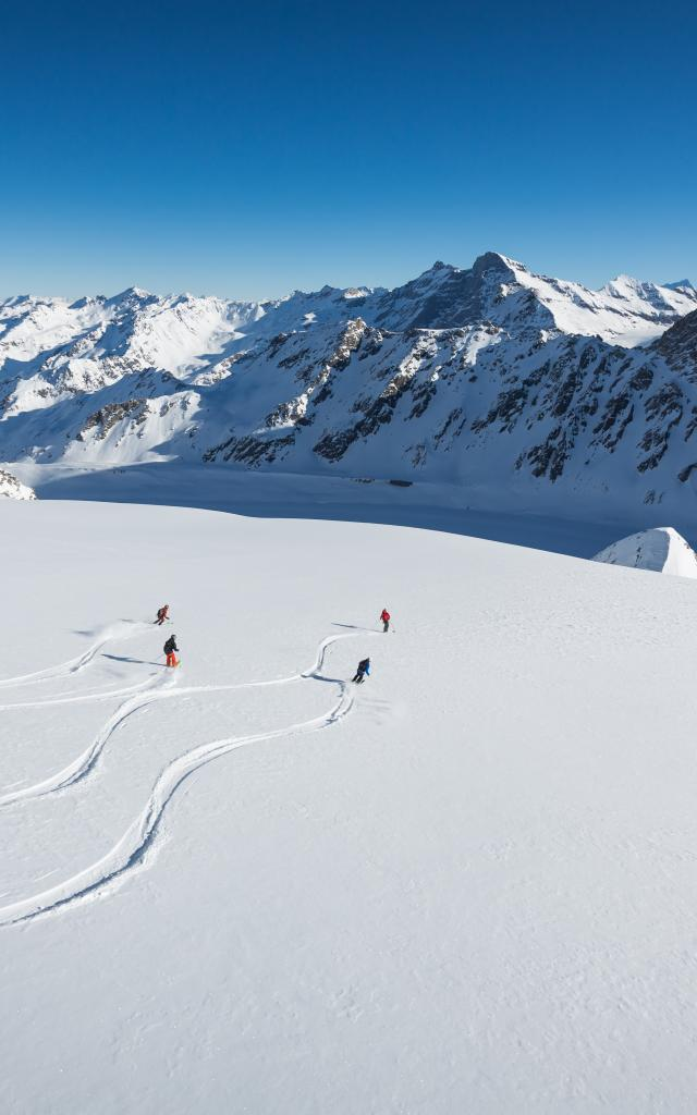 Heliskiing in the Verbier area