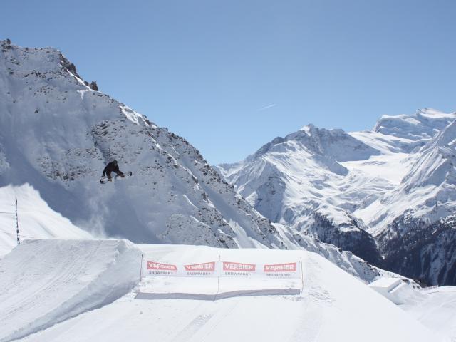 Snowpark de Verbier à La Chaux