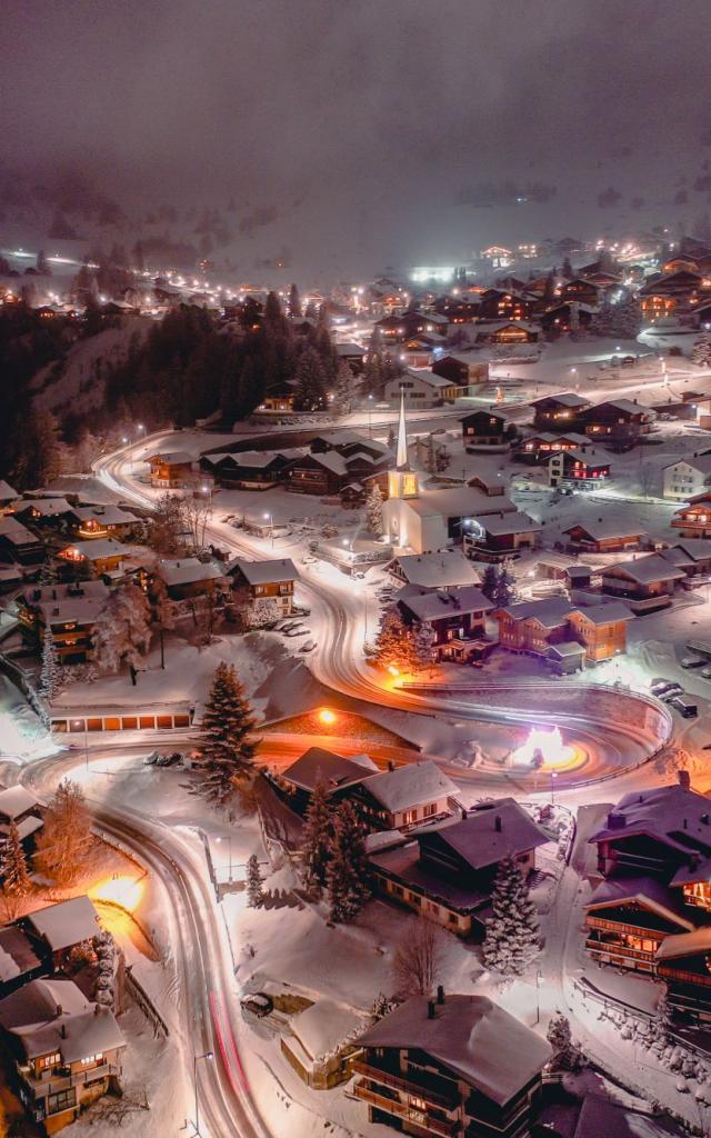 Verbier Night Venir En Suisse