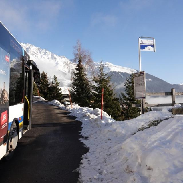 Verbier - Arrêt de bus - Planalui