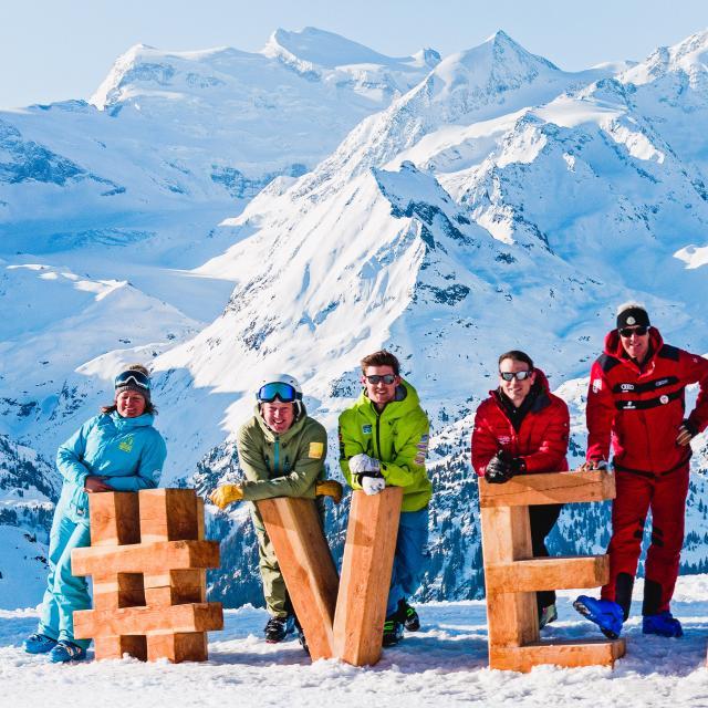Justin Murisier et les directeurs des écoles de ski de Verbier