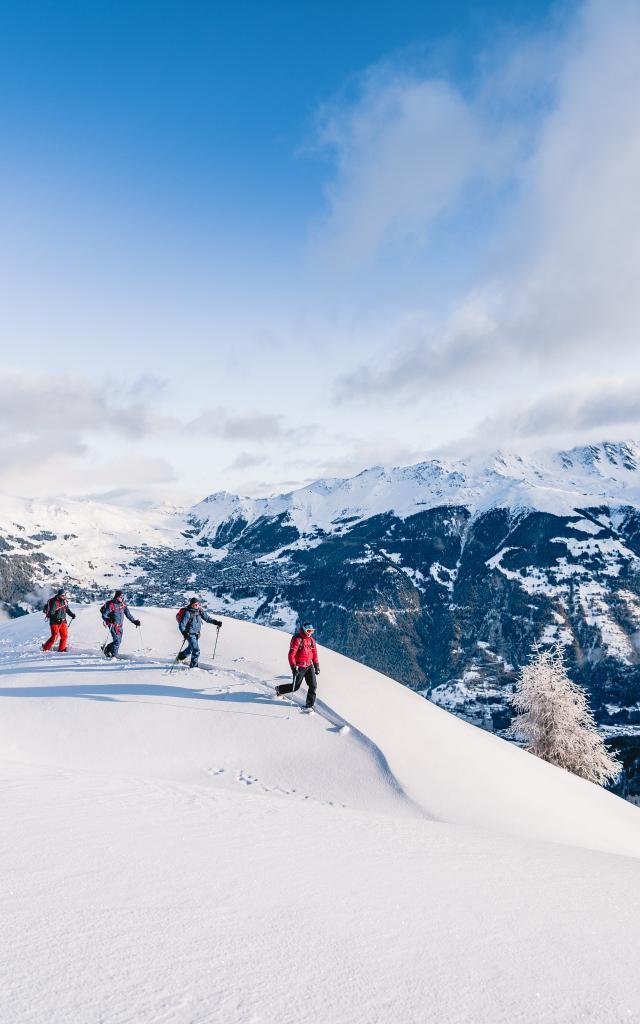 Ski de randonnée avec un guide dans la région de Verbier