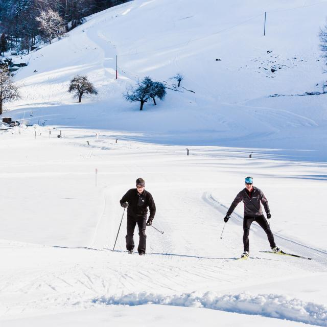 Ski de fond à Champsec
