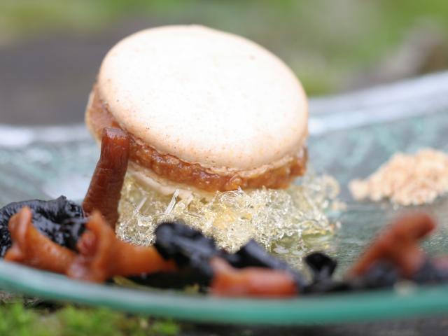 Bagnoles Orne Chef Etoile Cuisine Gastronomie Manoir Lys Quinton Champignon Plat Signature Macaron Girolles