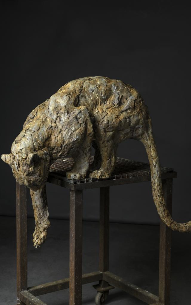 Bagnoles Orne Exposition Patrick Villas Leopard Fontaine Sculpture Animal Contemporain