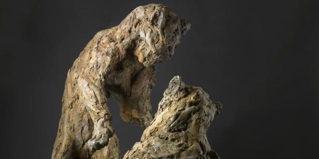 Bagnoles Orne Exposition Patrick Villas Sculpture Animal Contemporain Couple Jouant