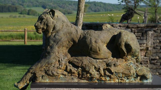 Bagnoles Orne Exposition Patrick Villas Sculpture Animal Contemporain Jaguar Couche