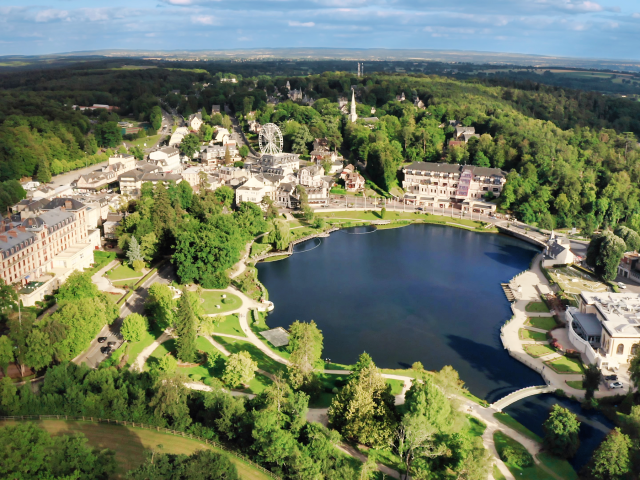 Bagnoles Orne Vue Aerienne Drone Lac Foret Architecture Paysage Normandie