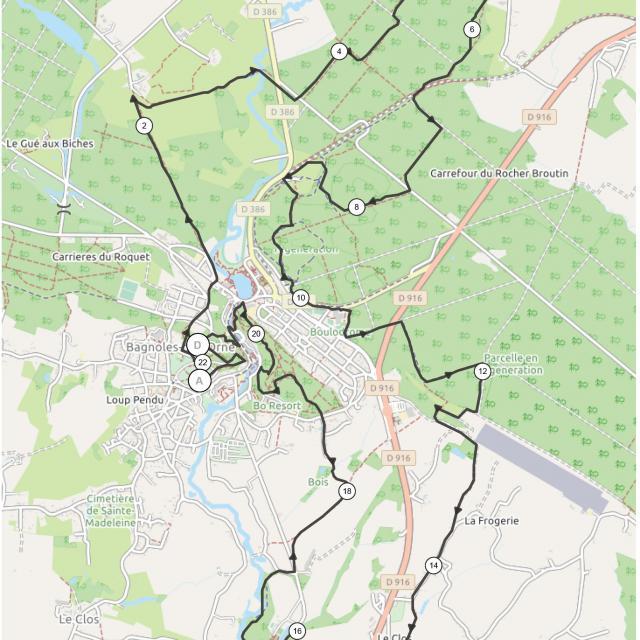 Bagnoles Orne Plan Marche Nordique Chronometree 22km 2021