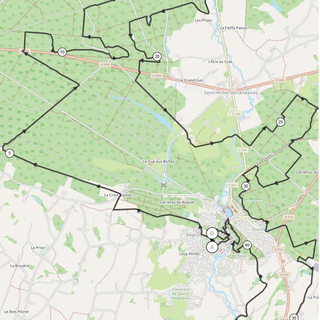 Bagnoles Orne Plan Marche Nordique Chronometree 42km 2021