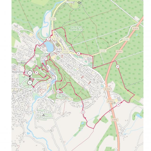 Bagnoles Orne Plan Trail Decouverte 2021