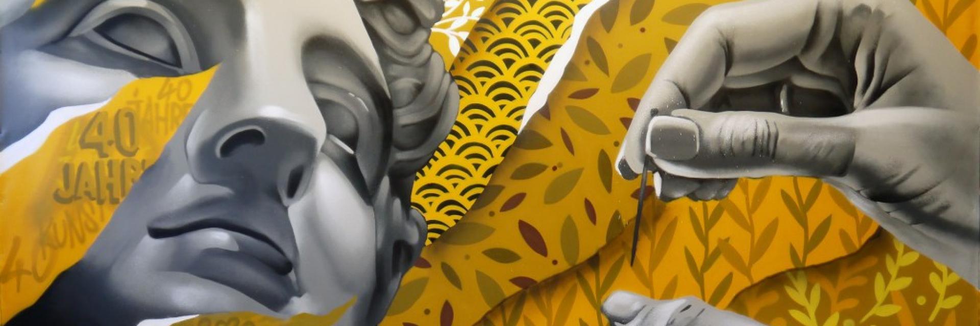 Bagnoles Orne Collectif 100 Pression Artiste Graffeur Tag Peinture Oeuvre Smoka Toile Visage Street Art