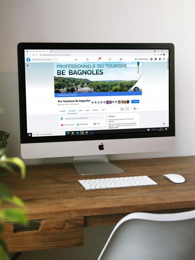 Bagnoles Orne Ordinateur Ecran Bureau Facebook Pro Clavier Souris
