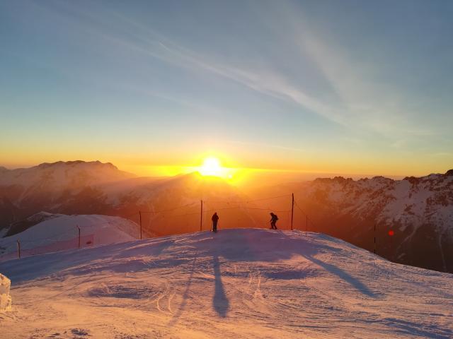 Ski Au Coucher De Soleil 20 Fevrier 2019