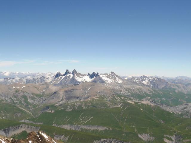 Vue Aiguilles D'arves depuis le Pic Blanc