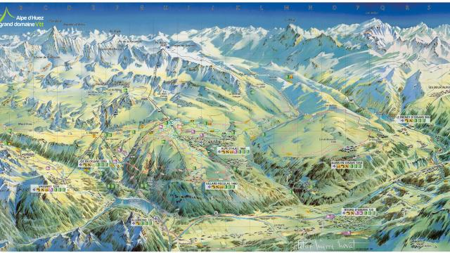Plan Alpe D'huez Grand Domaine Vtt 2020
