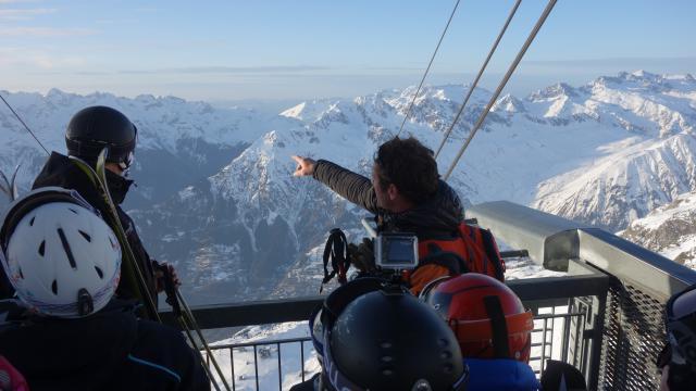 Ski au coucher du Soleil Dôme des Rousses