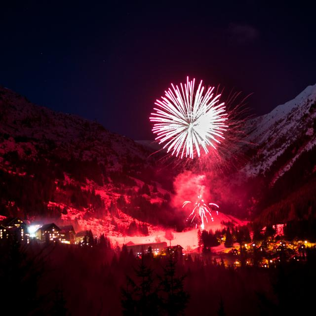 Feu d'artifice à Oz-en-Oisans