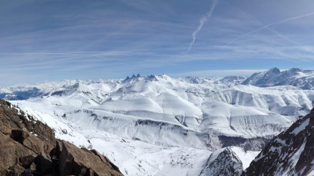 Pic Blanc Vue Aiguilles D'arves@oz En Oisans