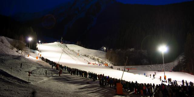 Ski nocturne à Oz-en-Oisans