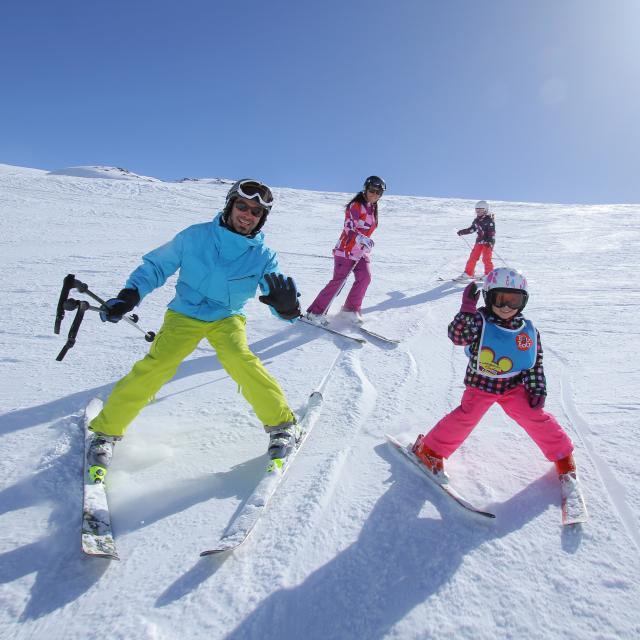 Journée ski en famille