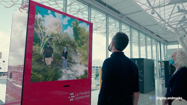 La fenêtre immersive dans le nouveau hall de la gare de Nantes