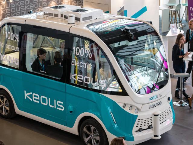 La voiture autonome de Keolis
