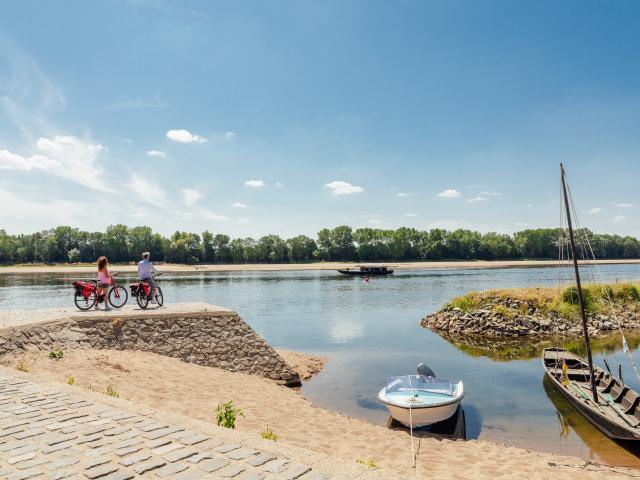 Balade à vélo le long de la Loire
