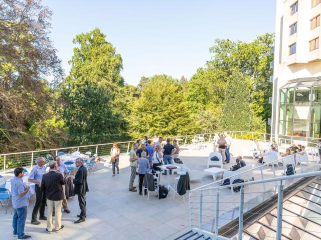 Soirée professionnelle en terrasse du Centre de congrès d'Angers