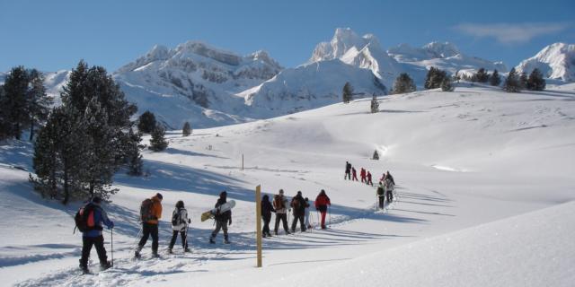 Espacio nórdico de Somport. Raquetas de nieve