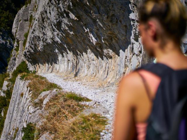 Senderismo en el Chemin De La Mâture, en Urdos
