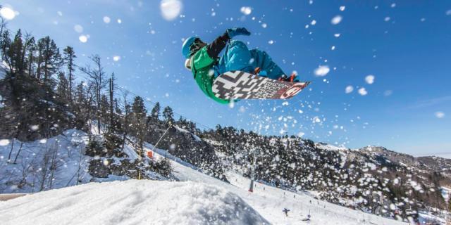 Snowboarder en La Pierre Saint-Martin