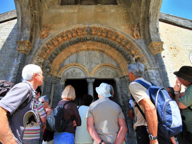 Visita del pórtico de la Catedral de Oloron Santa-María