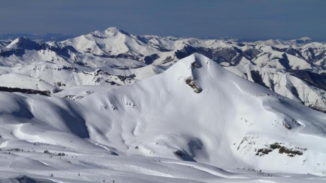 Vista de las pistas de esquí de La Pierre Saint-Martin