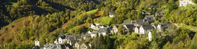 Vista del pueblo de Aydius