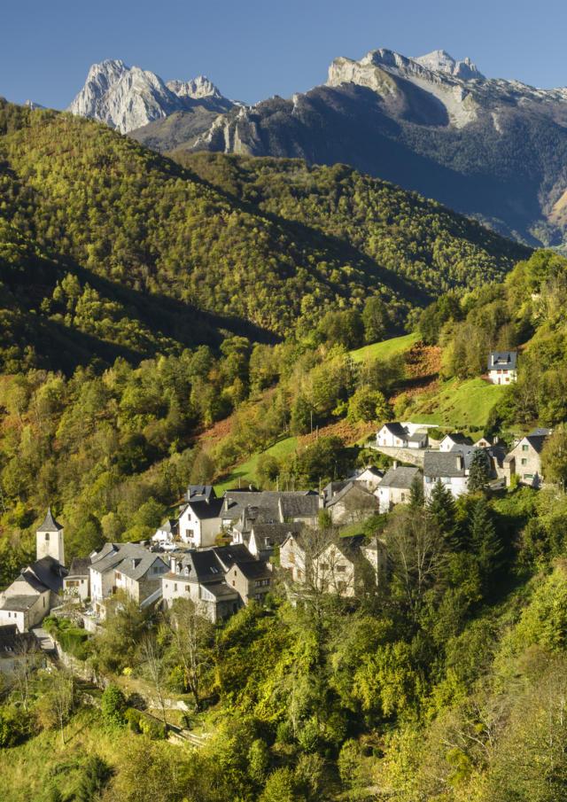 Vue du village d'Aydius